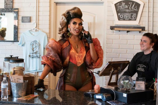 """We're Here"" is an HBO series that takes three drag queens — Bob the Drag Queen, Eureka O'Hara and Shangela Laquifa Wadley —  to small-town America to to inspire and teach their ""drag daughters"" in the local LGBTQ community to step outside their comfort zone for a one-night drag show. The series filmed in Ruston, Louisiana in late February. The episode will air on May 21."