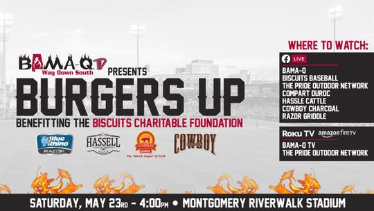 Burgers Up is being livestreamed Saturday from Riverwalk Stadium.