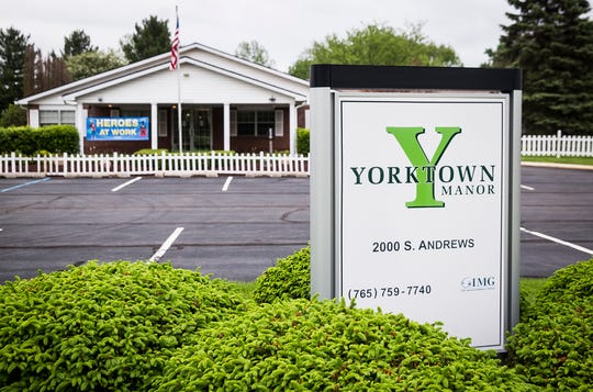 The exterior of Yorktown Manor Wednesday, May 20, 2020.
