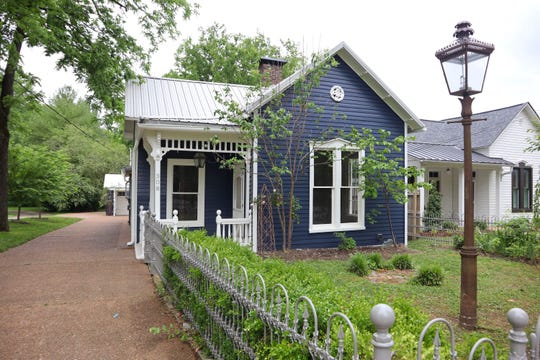 The cottage has 1,450 square feet of space. It is in Historic Downtown Franklin