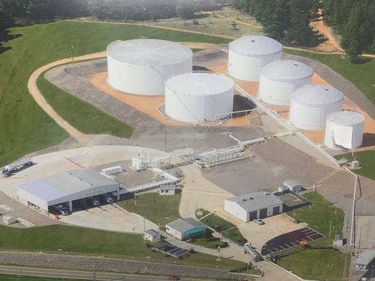 Pictured is the Buckeye terminal in North Augusta in South Carolina that is similar in size to the proposed Dickson County project.