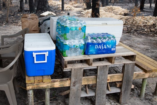 Khamdy Kiewsida has received donations that include food, water and coolers as pictured at his home in Golden Gate Estates on Tuesday, May 19, 2020.
