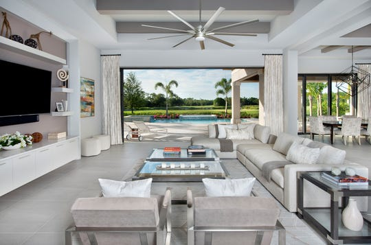 Clive Daniel Home has installed furnishings for the Barrymore, a custom home model constructed by McGarvey Custom Homes in Quail West.