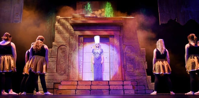Newark Catholic senior Lexi Miller played the role of Amneris in NC's 2020 drama club production of Aida at the Midland Theater.