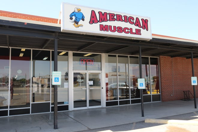 American Muscle gym remains open for business, defying public health orders by the State of New Mexico that all gyms in the state close to slow the spread of COVID-19, May 20, 2020 in Carlsbad. The gym was fined $100 by state officials on May 15.