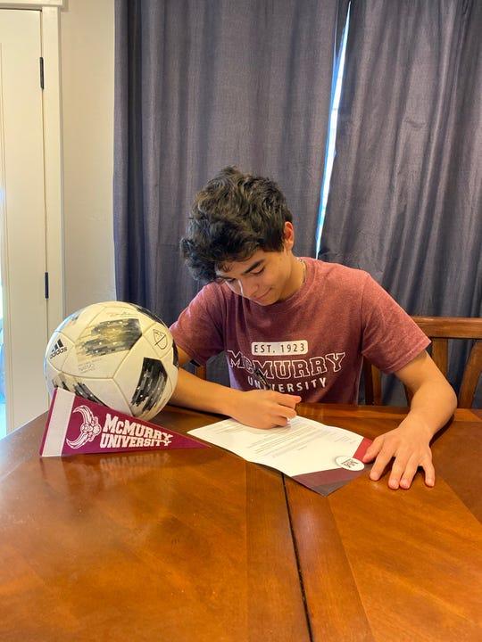 Farmington's Jaren Ulibarri will continue his soccer career at NCAA Division III McMurry University in Abilene, Texas.