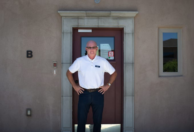 Owner Bobby Larson stands in front of Villa B on May 20, 2020, at The Villas at Green Valley, 865 N. Desert Bell Drive. Seven of the 10 residents in Villa B have died during the new coronavirus pandemic.