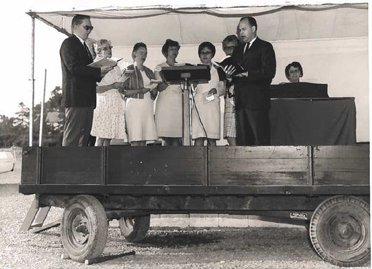 Trinity held worship from the Worship Wagon in the 1960s.
