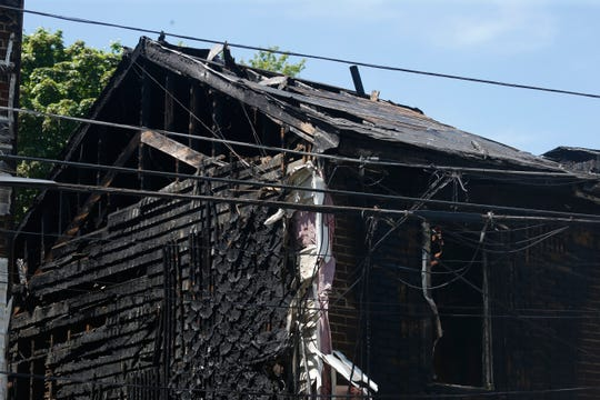 The fire damaged buildings on Duane Street in the City of Poughkeepsie on May 20, 2020.