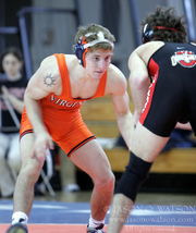 Eric Albright is seen here during his wrestling career at Virginia. He earned 124 NCAA Division I wins during his college career. He is hoping to bring that kind of success to Central York as that school's new head varsity wrestling coach.