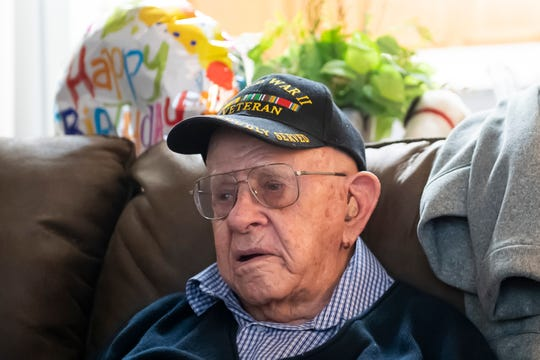 Dale Chapman at his apartment in Lebanon, Pa., on Monday, May 18, 2020. Chapman recently turned 100 years old and was surprised with a special, socially-distanced birthday celebration that included a proclamation from the mayor.