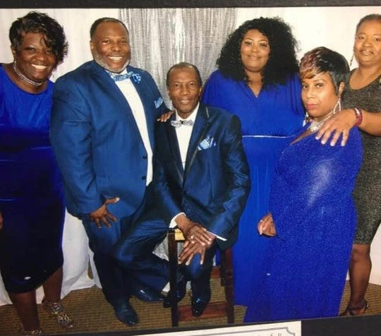 Right foreground: Denise Williams-Seymour, pictured with her dad Superintendent Richard Williams, Sr., center, siblings and a family friend. The family is known for excellence in singing and evangelizing.