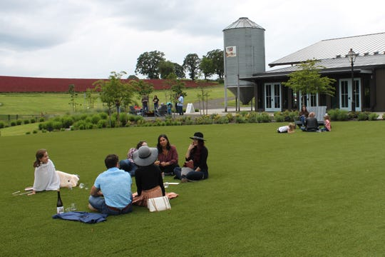 A group of students gathered to celebrate their graduation from the Pacific University School of Pharmacy at Abbey Road Farm. Closed because of coronavirus, the Yamhill County winery reopened on May 16.
