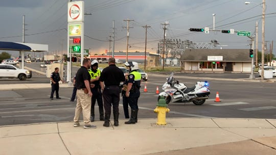 San Angelo police respond to a cyclist-vehicle collision involving a child, 7, at West Avenue N and South College Hills Boulevard around 5 p.m. Wednesday, May 20, 2020.