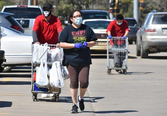 Strict rules are in place at Lakota Thrifty Mart grocery stores operated by the Cheyenne River Sioux Tribe, including mandatory use of masks and gloves by all patrons and employees and limits on how many people can shop at any one time.
