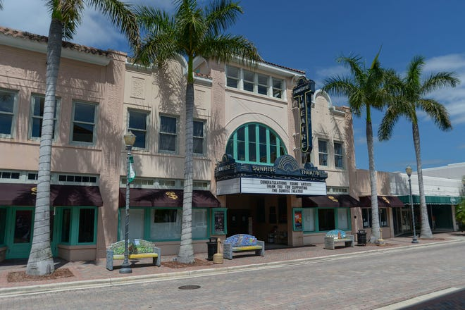 The Sunrise Theatre on 2nd Street in downtown Fort Pierce remans closed due to the COVID-19 pandemic, as seen on Wednesday, May 20, 2020.