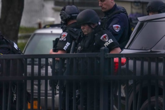 """Law enforcement including Westchester County Special Response Team, Greenburgh SWAT, Greenburgh Police, and officers from Ardsley, Irvington and Hastings-on-Hudson joined the Dobbs Ferry Police Department in responding to a report of shots fired into a Myrtle Avenue residence on May 19, 2020. The report was unfounded. Dobbs Ferry Police Chief Manuel Guevara said the investigation is looking into the incident as a possible """"swatting"""" event, a false alarm meant to draw a large response."""
