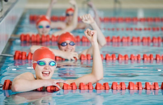 USA Swimming, the sport's national governing body, has recommended that teams returning to the water limit the number of athletes per lane and start them from opposite ends of the pool.