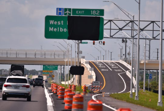 Work on the Interstate 95 interchange at Ellis Road will open soon, as viewed heading south on I-95.