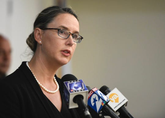 FBI Supervisory Senior Resident Agent Leah Greeves says that the shooting that occurred at Naval Air Station - Corpus Christi on Thursday, May 21, 2020 is being investigated as an act of terrorism and that the suspect is dead, with a potential second suspect at large. Greeves spoke at a press conference held at the Corpus Christi Police Department.