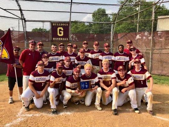 The Glassboro baseball team celebrates after winning the South Jersey Group 1 championship last year.