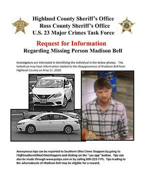 Photo of a man who may have information in connection to the dissappearance of Madison Bell in May 2020.