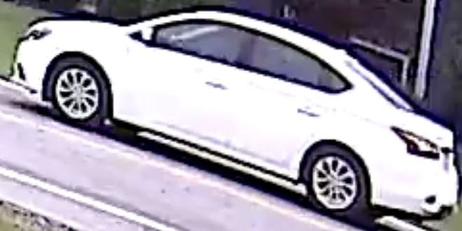 The sheriff's office released this picture of a white car in connection to missing 18-year-old Maddie Bell. (Source: Highland County Sheriff's Office)