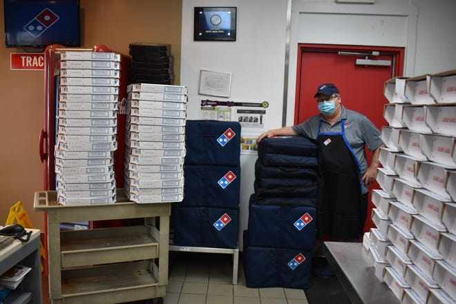 Coshocton Domino's franchise owner Patrick Anderson recently donated 550 pizza slices to the local Meals on Wheels program through the Coshocton Senior Center.