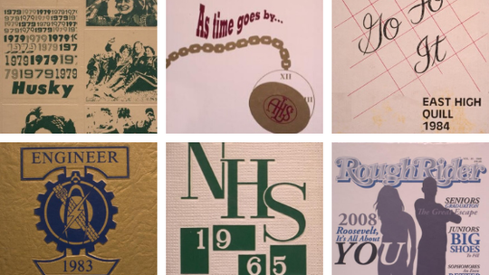You can search through old Des Moines yearbooks on the Des Moines Public Library's website.