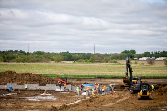 Construction begins on Waukee Community School District's Sugar Creek Elementary on Thursday, May 21, 2020, in Waukee. The new school will open fall 2022 and serve kindergarten through fifth grade students.
