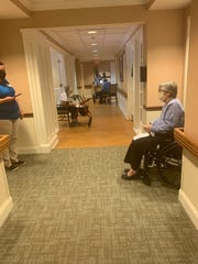 Five Star Senior Living residents were treated to a game of social-distancing bingo.