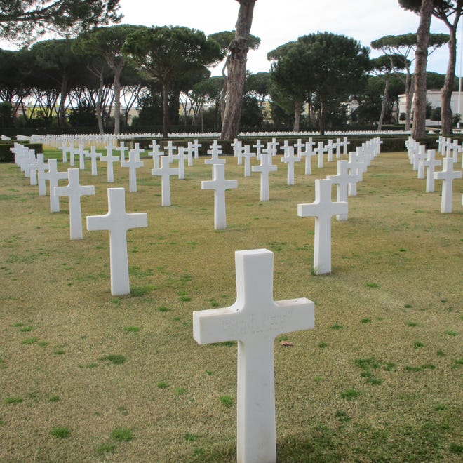 A 2018 photo of the American Cemetery in Nettuno, Italy.