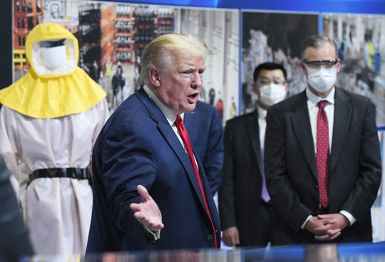 President Donald J. Trump tours the Ford Motor Company Rawsonville Components Plant, one of the many repurposed American factories producing personal protective equipment and ventilators in the fight against the COVID-19 pandemic.