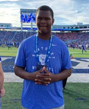 Devon Manuel is a 6-foot-8, 300-pound offensive tackle from Arnaudville, Louisiana.