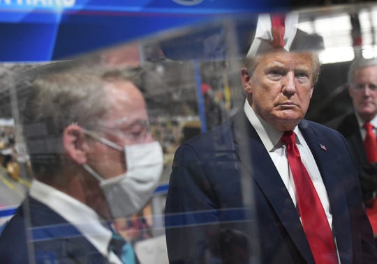 Executive Chairman of Ford Motor Company Bill Ford Jr. and President Trump  tour of Ford's Rawsonville Components Plant  in Ypsilanti.