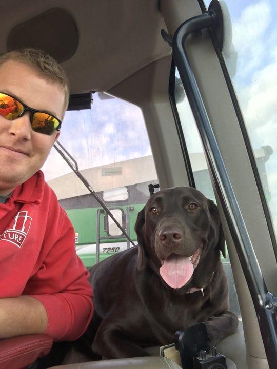 Ryan Gargas and dog, Coco.
