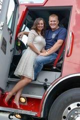 Genoa's Ryan Gargas and wife Samantha.