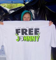 Merchandise for sale at the fundraiser for Johnny Boone.