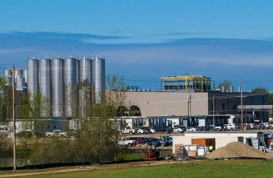 A view of the Glanbia Foods dairy and cheese plant in the St. Johns Industrial Park Thursday, May 21, 2020.
