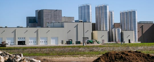 A view from Walker Rd. in St. Johns of the Glanbia dairy and cheese processing plant which is still under construction Thursday, May 21, 2020.