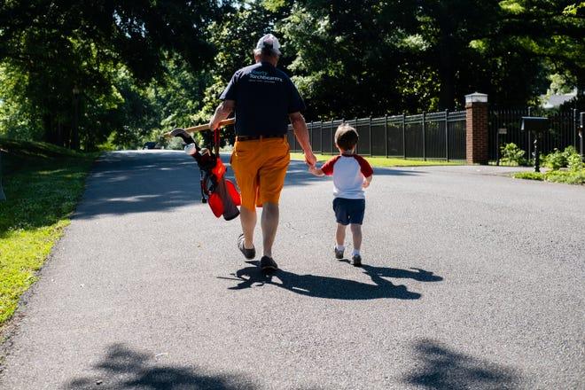 Kimbal Gordon and his 3-year-old grandson, Walter Cross Gordon.