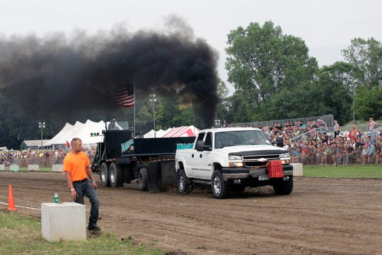 Brian Ebeling participates in the truck pull at the Rumble by the River in Big Bend on July 11, 2015. The 2020 event has been canceled due to the coronavirus outbreak.
