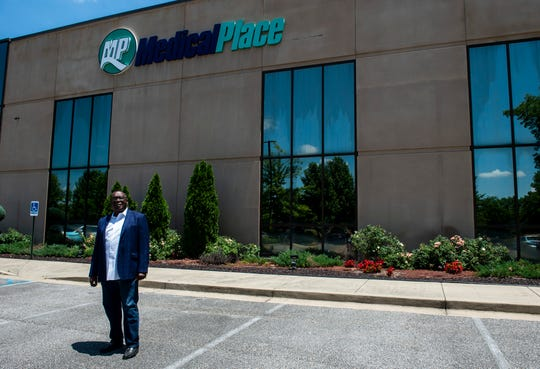 Dr. Alfred Seawright poses for a portrait outside his office at Medical Place in Montgomery, Ala., on Thursday, May 21, 2020.