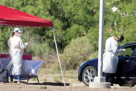 Luna County public health officials continued  testing residents during a Test-N-Go drive through on Saturday at the Mimbres Valley Learning Center. The county had 200 testing kits.