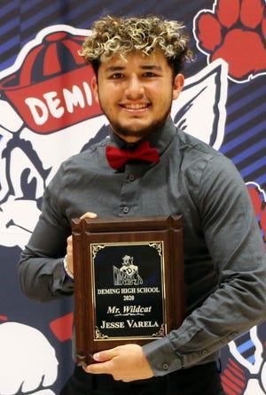 Deming High School senior Jesse Varela is the recipient of the Mr. Wildcat Award.