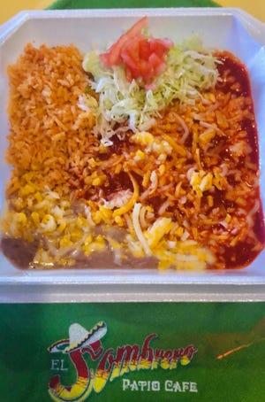 Enchiladas at El Sombrero Patio Cafe, 363 S. Espina St.