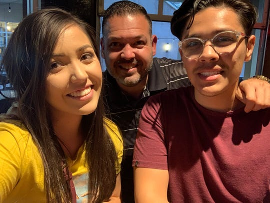 Vanessa Velasco, 22, took this photo with her father and brother at Bar Louie in Glendale's Westgate Entertainment District on May 20, 2020, just before a gunman opened fire there.