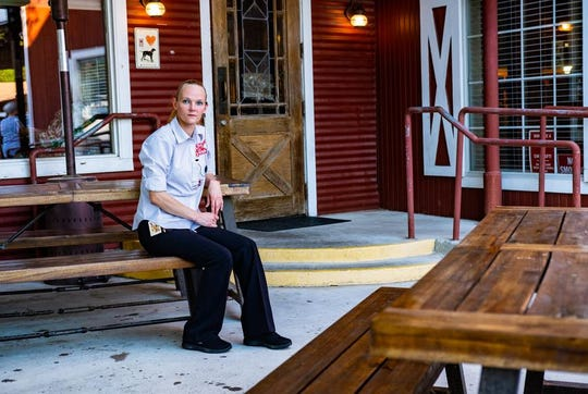 """""""It's going to be really hard for managers,"""" says Donna Heath, """"because we have to make sure the new procedures are followed while also maintaining our warm relationship with our guests."""" Heath is a manager at The Barn Door Restaurant in San Antonio."""