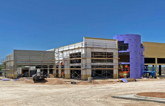 Work continues at the Brown Honda dealership construction site in San Angelo in this Tuesday, May 5, 2020 photo.
