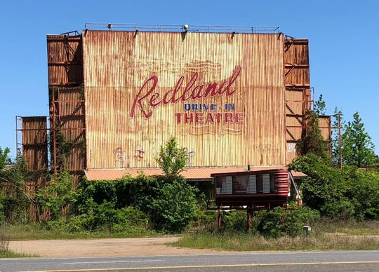 The Redland Drive-In Theatre near Lufkin, Texas, is one of hundreds of drive-ins across the South that are no longer operational.